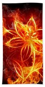 112775 Flowers Fire Bath Towel