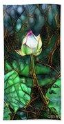 Jeweled Water Lilies Bath Towel
