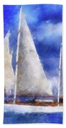 Ships Ahoy Bath Towel
