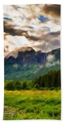 Nature Pictures Of Oil Paintings Landscape Bath Towel
