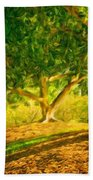 Nature Art Original Landscape Paintings Bath Towel