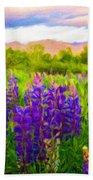 Nature Oil Painting Landscape Images Bath Towel