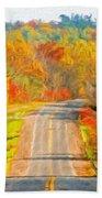 Painting Landscape Bath Towel