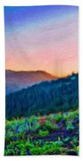 Nature Oil Canvas Landscape Bath Towel