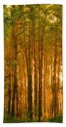 Nature Oil Canvas Landscape Bath Towel