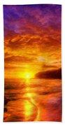 Oil Painting Landscape Pictures Nature Bath Towel
