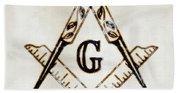 Ancient Freemasonic Symbolism By Pierre Blanchard Hand Towel