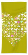 Love Heart Valentine Shape Bath Towel