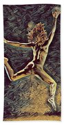 1307s-dancer Leap Fit Black Woman Bare And Free Hand Towel by Chris Maher