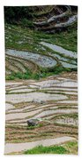 Longji Terraced Fields Scenery Bath Towel