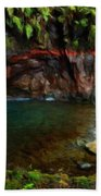 Nature Oil Painting Landscape Images Bath Towel