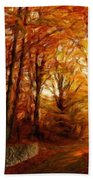 Nature Scenery Oil Paintings On Canvas Bath Towel