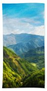 Landscape Nature Art Bath Towel
