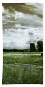 Landscape Oil Painting Nature Bath Towel
