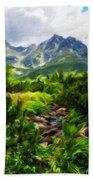 Landscape Painted Bath Towel