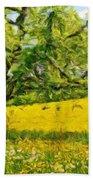 Oil Painting Landscape Pictures Bath Towel