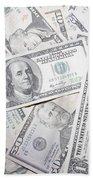 American Banknotes Bath Towel