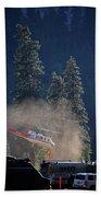 Climber Rescue Operation In Yosemite Bath Towel