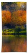 Framed Landscape Art Bath Towel