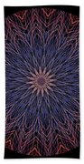 Kaleidoscope Image Created From Light Trails Bath Towel
