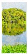 Nature Landscape Illumination Bath Towel