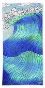 141 - Waves Bath Towel