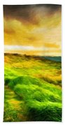 Landscape On Nature Bath Towel