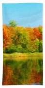 Landscape Drawing Nature Bath Towel