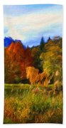 Nature Landscape Paintings Bath Towel