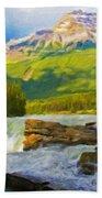 Nature Landscape Oil Bath Towel