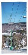 Beautiful Nature And Scenery Around Snowshoe Ski Resort In Cass  Bath Towel