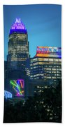 Charlotte North Carolina Cityscape During Autumn Season Bath Towel