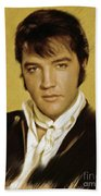 Elvis Presley, Rock And Roll Legend Bath Towel