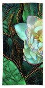 Jeweled Water Lilies Hand Towel