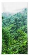 Mountain Scenery In Mist Bath Towel