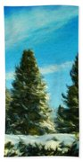 Nature Art Original Landscape Paintings Bath Towel