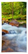 Nature Painted Landscape Bath Towel