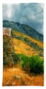 Landscape Painted Bath Towel