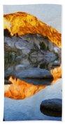 Landscape Oil Painting Nature Bath Towel