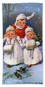 American Christmas Card Bath Towel