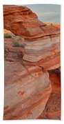 First Light On Valley Of Fire Bath Towel