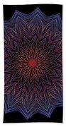 Kaleidoscope Image Created From Light Trails Bath Towel