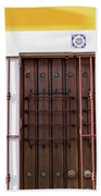 Wooden Door In Old San Juan, Puerto Rico Bath Towel