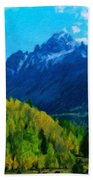 Nature Original Landscape Painting Bath Towel