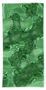 Alien Fluid Metal Bath Towel