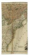 1783 United States Of America Map Bath Towel