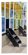 Beach Huts Bath Towel