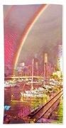 Docklands Double Rainbow Bath Towel