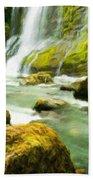 Landscape Nature Drawing Bath Towel