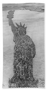 18,000 Officers And Men Form The Statue Of Liberty At Camp Dodge In Iowa. 1917 Bath Towel